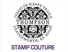 damask round stamp